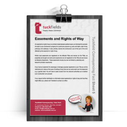 Tuckfields Easements and Rights of Way Fact Sheet 5