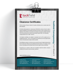 3. Clearance-Certificate Fact Sheet | Tuckfield Conveyancing