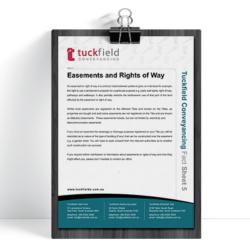 5. Easements Rights of Way Fact Sheet | Tuckfield Conveyancing